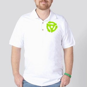 Lime Green Distressed 45 RPM Adapter Golf Shirt