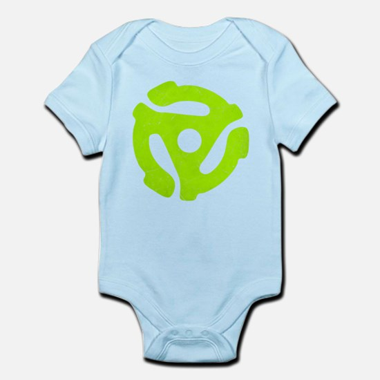 Lime Green Distressed 45 RPM Adapter Infant Bodysu