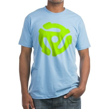 Lime Green Distressed 45 RPM Adapter Fitted T-Shir