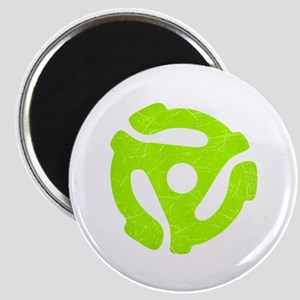 Lime Green Distressed 45 RPM Adapter Magnet