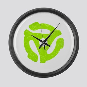 Lime Green Distressed 45 RPM Adapter Large Wall Cl