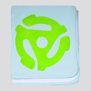 Lime Green Distressed 45 RPM Adapter Infant Blanke