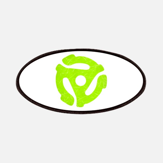 Lime Green Distressed 45 RPM Adapter Patches