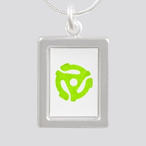 Lime Green Distressed 45 RPM Adapter Silver Portra