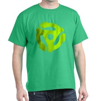 Lime Green Distressed 45 RPM Adapter Dark T-Shirt