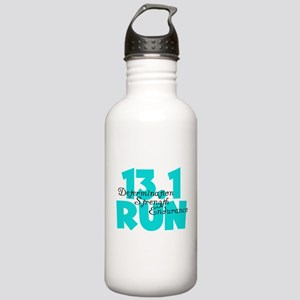 13.1 Run Aqua Stainless Water Bottle 1.0L