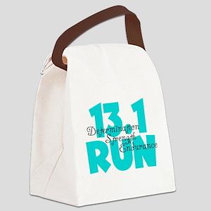 13.1 Run Aqua Canvas Lunch Bag