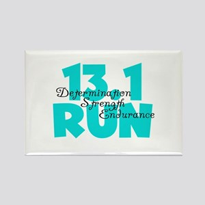 13.1 Run Aqua Rectangle Magnet