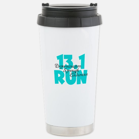 13.1 Run Aqua Stainless Steel Travel Mug