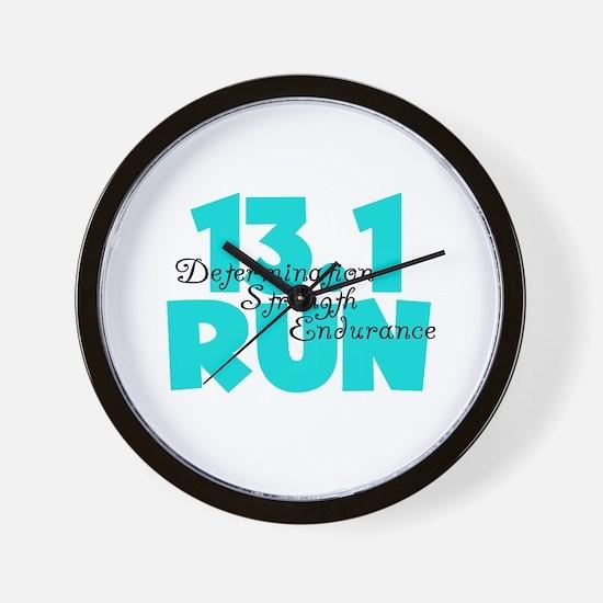 13.1 Run Aqua Wall Clock