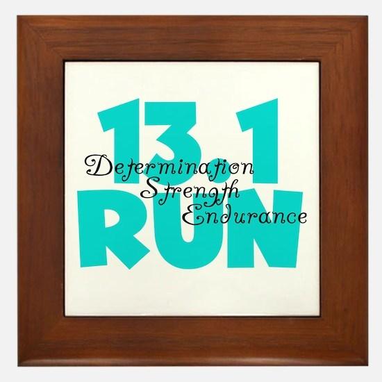 13.1 Run Aqua Framed Tile