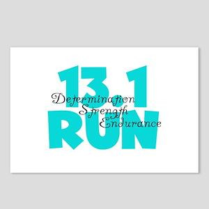 13.1 Run Aqua Postcards (Package of 8)