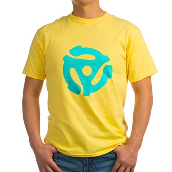 Turquoise Distressed 45 RPM Adapter Light T-Shirt
