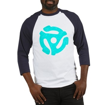 Turquoise Distressed 45 RPM Adapter Baseball Jerse