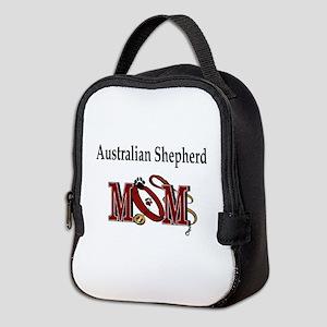 Australian Shepherd Mom Neoprene Lunch Bag