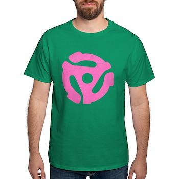Hot Pink Distressed 45 RPM Adapter Dark T-Shirt