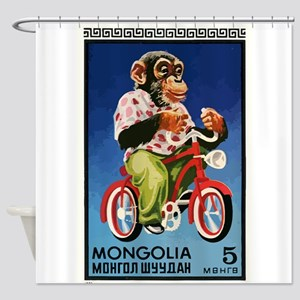 1973 Mongolia Chimp Riding Bicycle Postage Stamp S