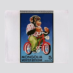 1973 Mongolia Chimp Riding Bicycle Postage Stamp T