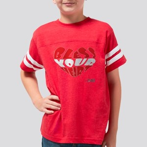Bless Your Heart (Red-White) Youth Football Shirt