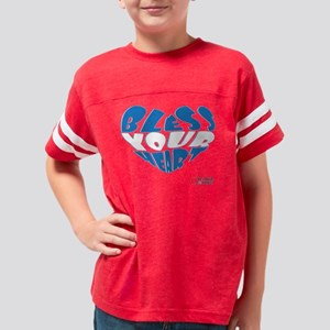 Bless Your Heart (Blue-White) Youth Football Shirt