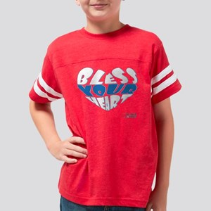 Bless Your Heart (White-Blue) Youth Football Shirt