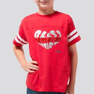 Bless Your Heart (White-Red) Youth Football Shirt