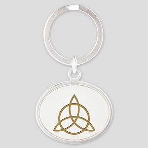 Charmed Oval Keychain