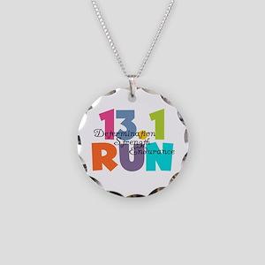 13.1 Run Multi-Colors Necklace Circle Charm