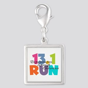 13.1 Run Multi-Colors Silver Square Charm