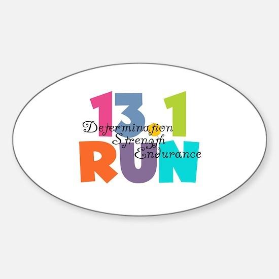 13.1 Run Multi-Colors Sticker (Oval)