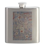 Stars and Stripes Angel Flask