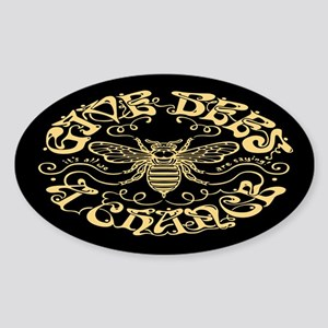 Give Bees a Chance Sticker (Oval)