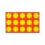 Yellow Gem Clover 3'x5' Area Rug