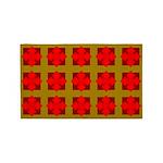 Red Gem Clover 3'x5' Area Rug