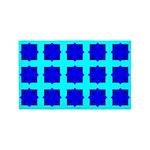 Blue Gem Clover 3'x5' Area Rug