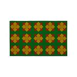 Brown Gem Clover 3'x5' Area Rug