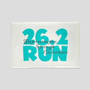 26.2 Run Aqua Rectangle Magnet