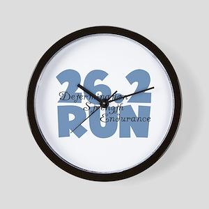 26.2 Run Blue Wall Clock