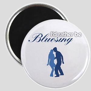 Id Rather Be Bluesing transparent Magnet