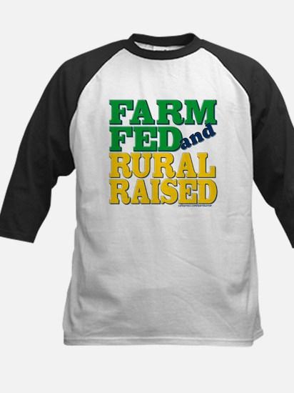 """FARM FED AND RURAL RAISED"" Kids Baseball Jersey"