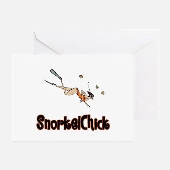 SnorkelChick Logo Greeting Cards (Pk of 10)