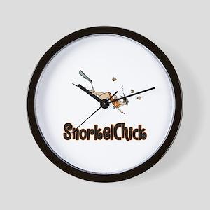 SnorkelChick Logo Wall Clock
