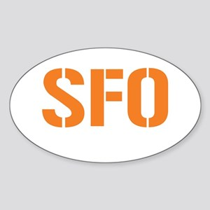 AIRCODE SFO Oval Sticker