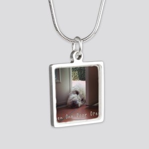 When One Door Opens Silver Square Necklace