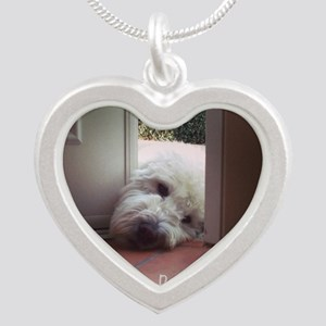 When One Door Opens Silver Heart Necklace