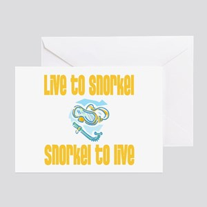 Live to Snorkel Greeting Cards (Pk of 10)