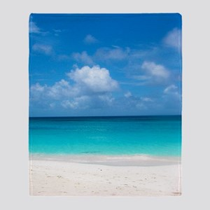Tropical Beach View Cap Juluca Anguilla Throw Blan