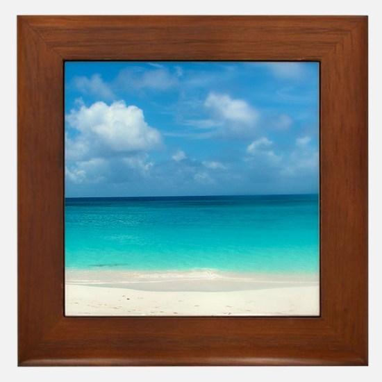 Tropical Beach View Cap Juluca Anguilla Framed Til