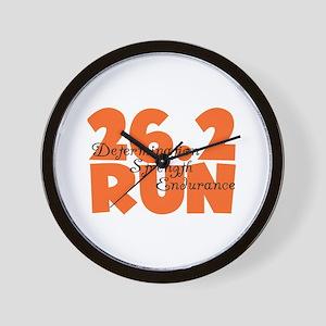26.2 Run Orange Wall Clock