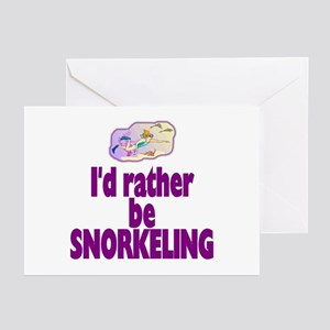 I'd rather be snorkeling! Greeting Cards (Package